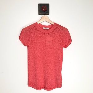 FREE PEOPLE   NEW Basic T Dusty Pink Combo Shirt